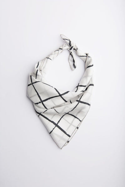 Windowpane Neckerchief - Charcoal