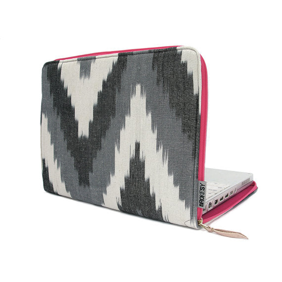 "Black Ikat 13"" Laptop Case"