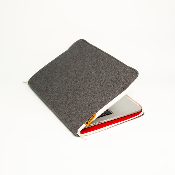 Grey Felt Laptop Case