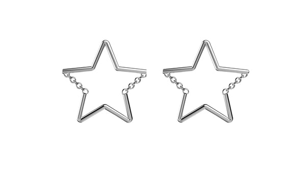 Star Chain Studs - Silver