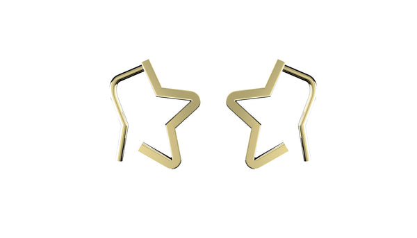 Star Hook Earrings - Gold