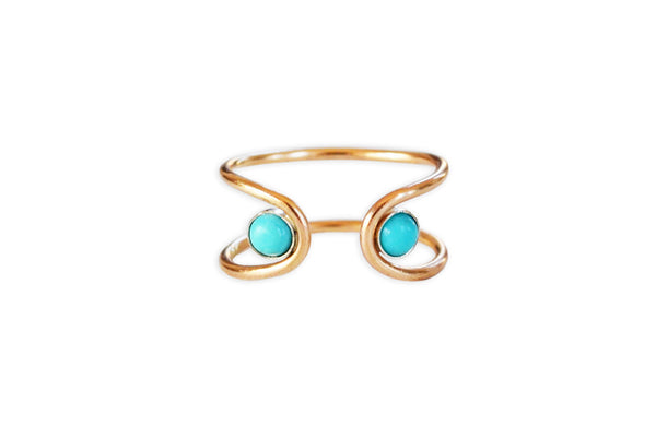 Double Orbit Turquoise Ring (More Options)