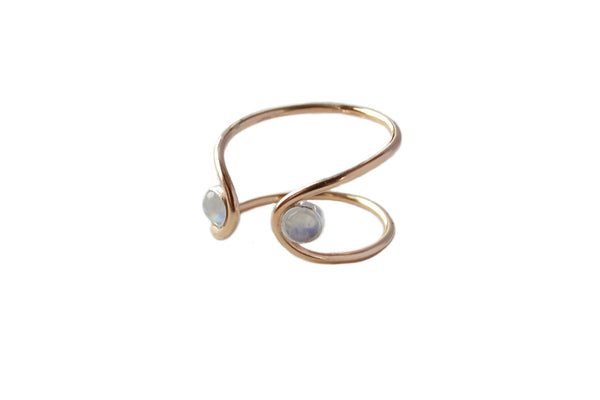 Double Orbit Moonstone Ring (More Options)