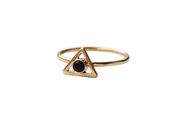 Triangle Stone Ring (More Options)