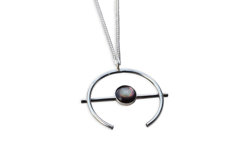 Black Shell Orb Necklace (More Options)