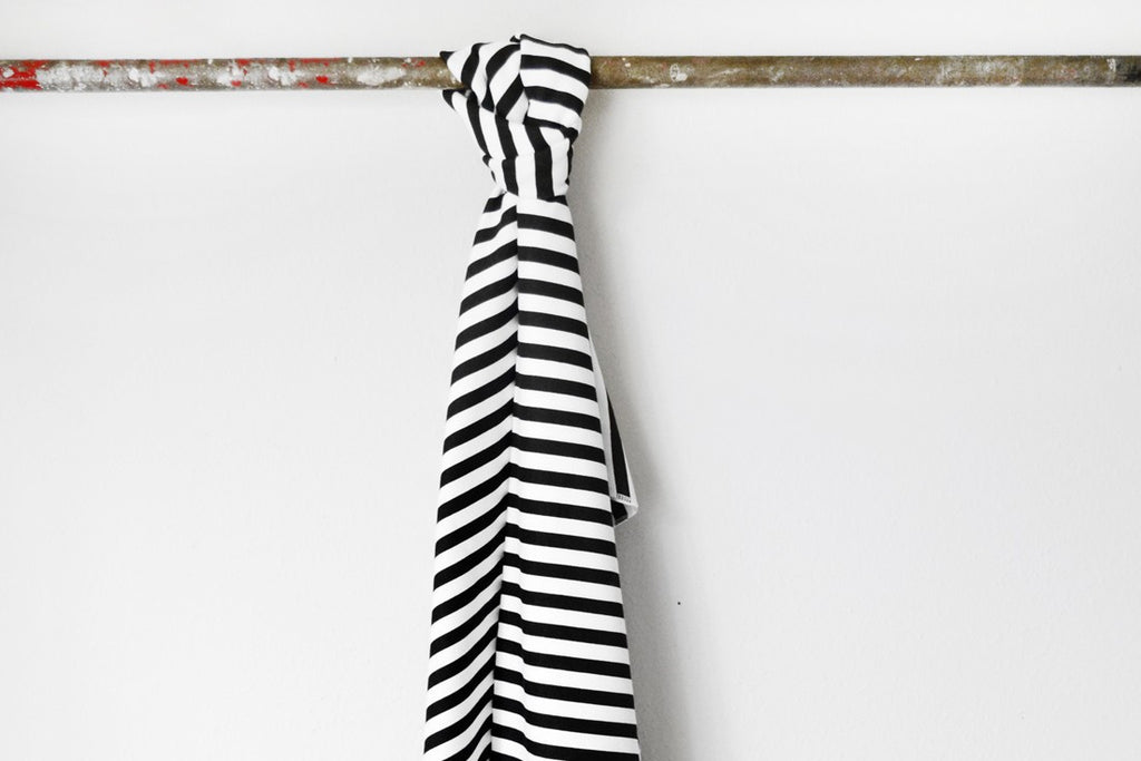 B&W Stripe Toddler Blanket ---