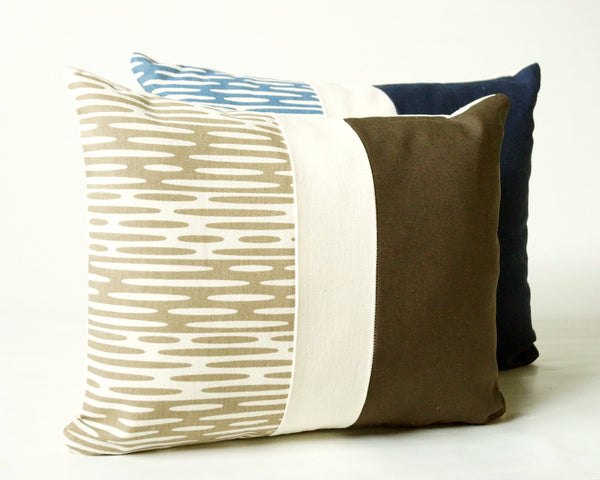 Ripplets Patchwork Pillow Cover (More Colors)