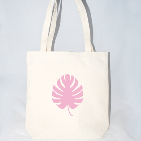 Monstera Leaf Tote Bag (More Colors)