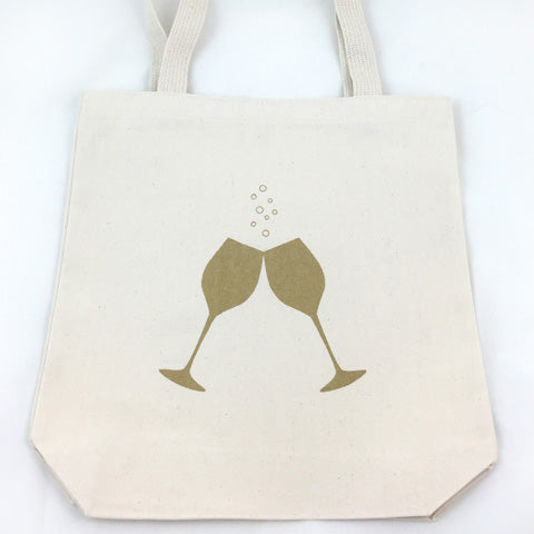 Bubbly Wine Tote Bag (More Colors)