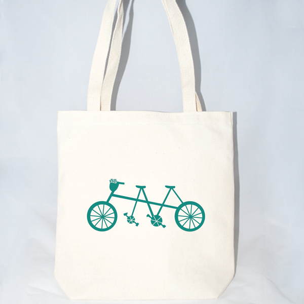 Bicycle Built for Two Tote Bag (More Colors)