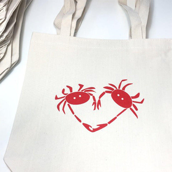 Crab Heart Tote Bag (More Colors)