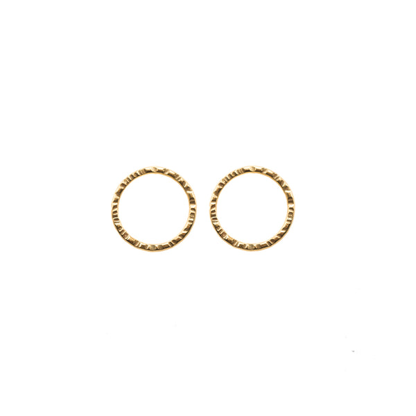 Open Circle Earrings in Gold