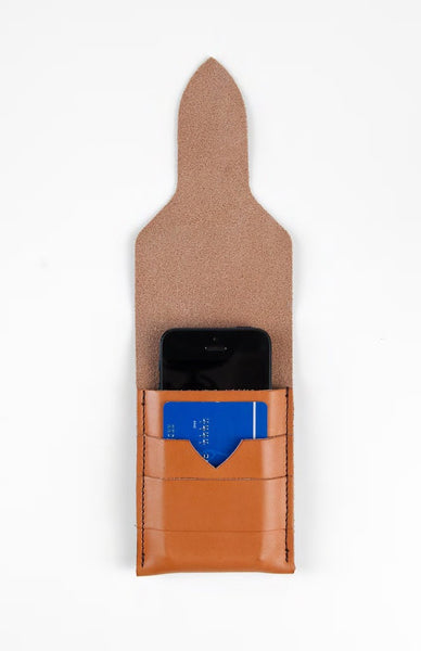 Cognac Phone Wallet ---