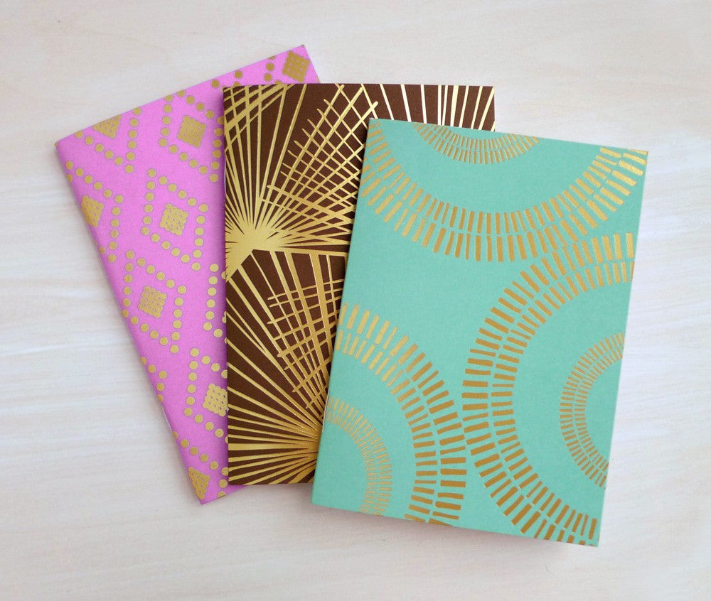 Luxe Pocket Journals (Set of 3) ---