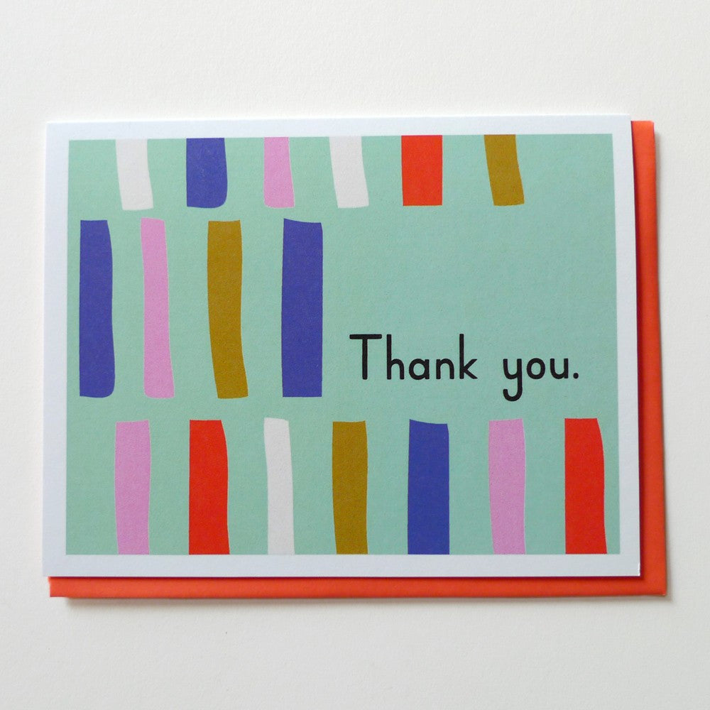 Mod Thank You Stripe Cards (Set of 6) ---