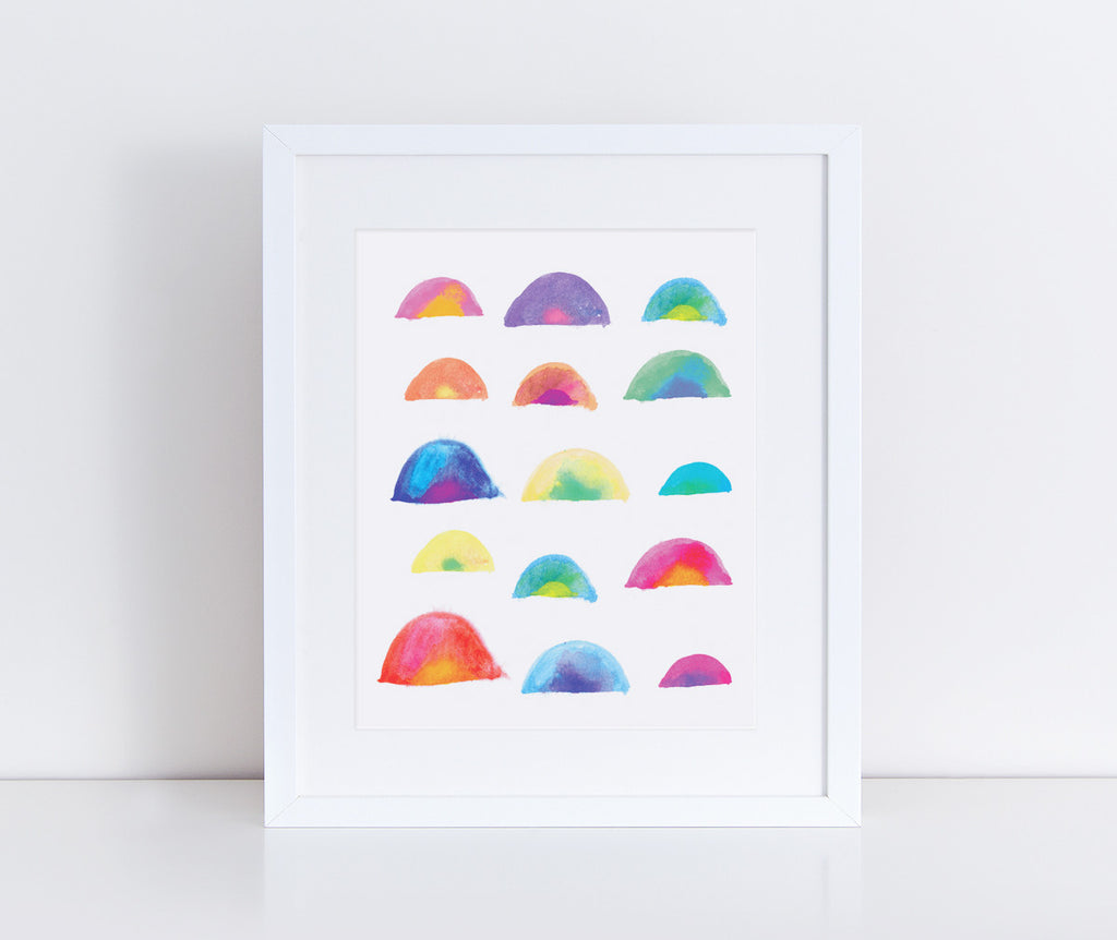 Rainbows Watercolor Art Print