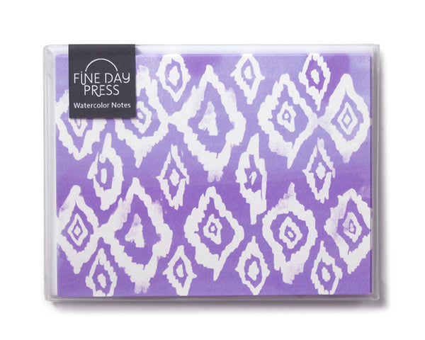 Ikat Watercolor Cards (Set of 6) ---