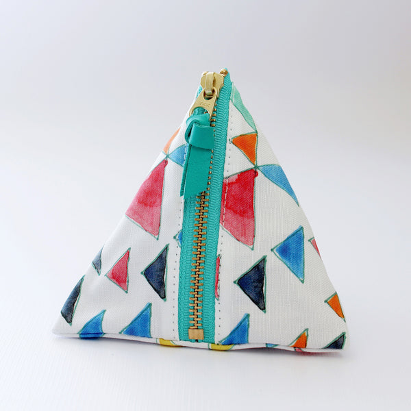 Triangles Triangle Zipper Pouch (More Colors)
