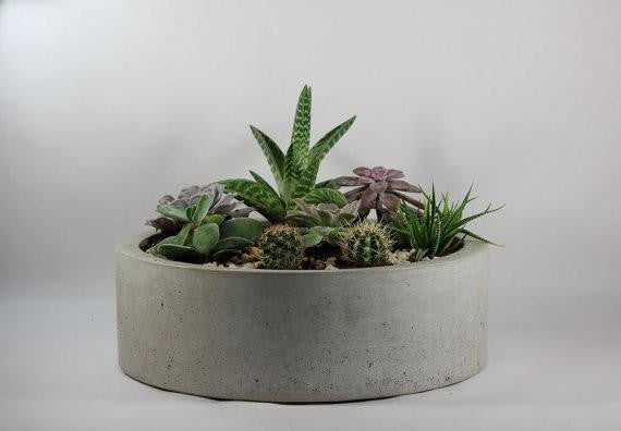 "16"" Round Concrete Centerpiece (More Options)"