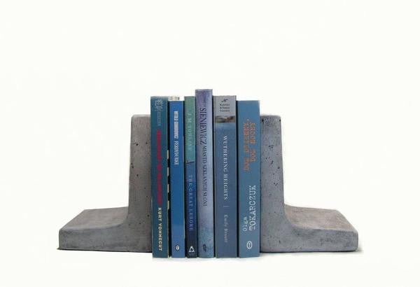 "Modern Concrete Bookends ""L"" shape ---"