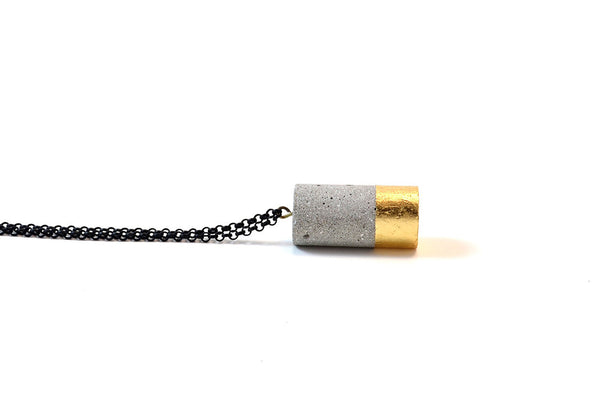 Modern Concrete Cylinder Necklace (More Colors)