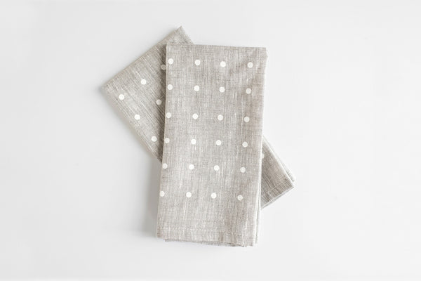 White Dots Napkin (Set of 2) ---