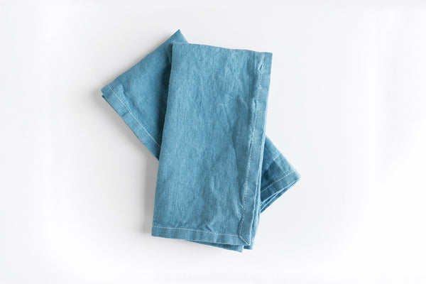 Indigo Linen Napkins (Set of 2) ---