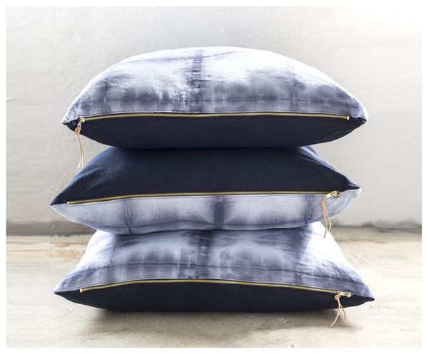 Shibori Blue Floor Pillow ---