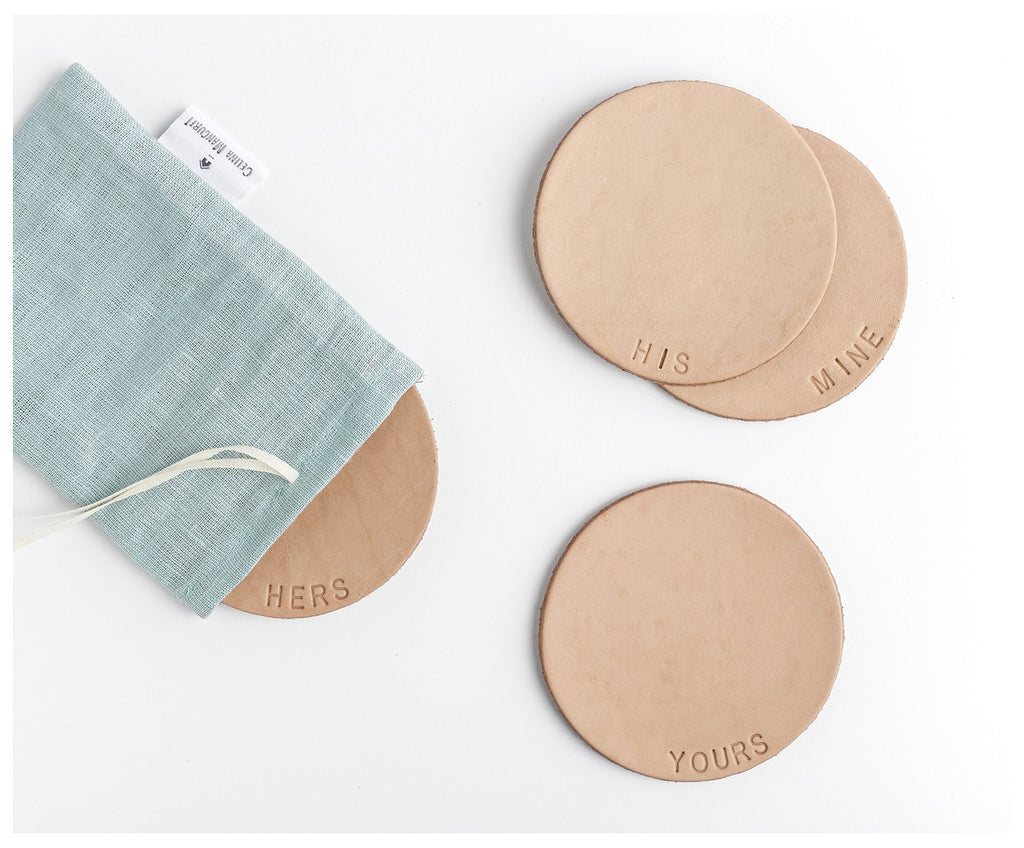 Personalized Leather Coasters