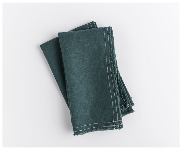 Wild Green Linen Napkins (Set of 2)