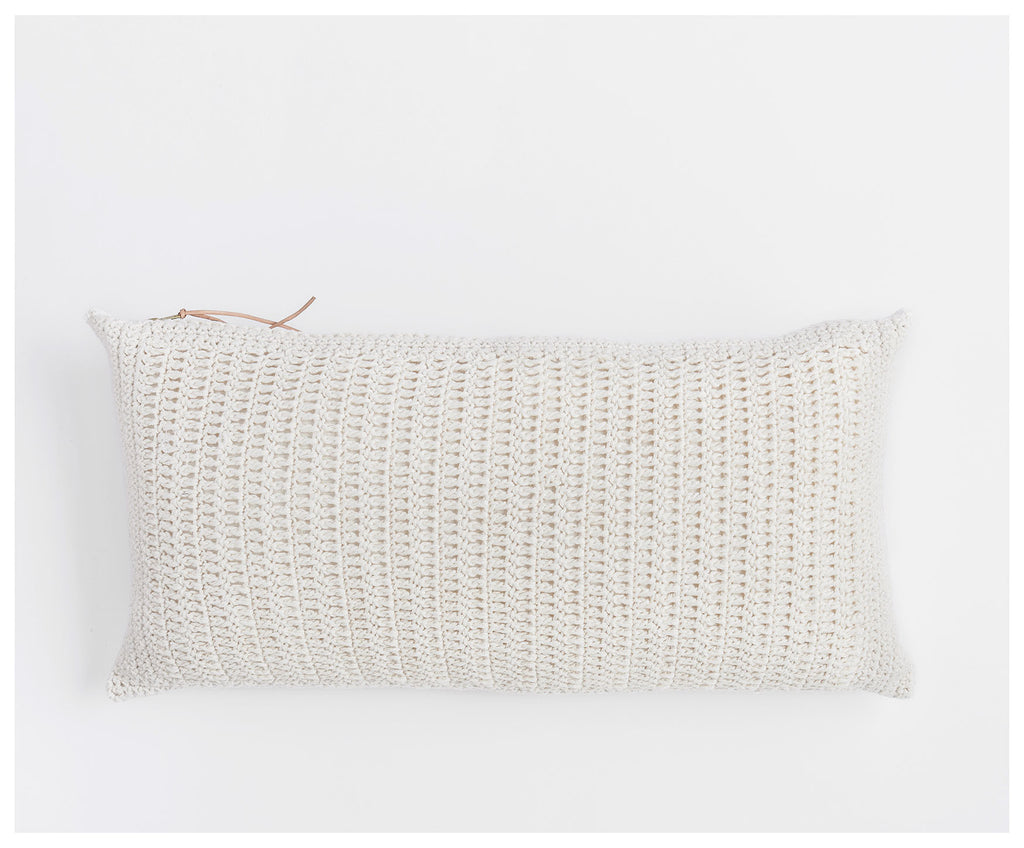 Crocheted Front Carmen Pillow