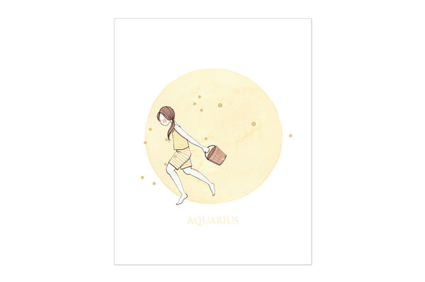 Aquarius The Water Bearer Print ---