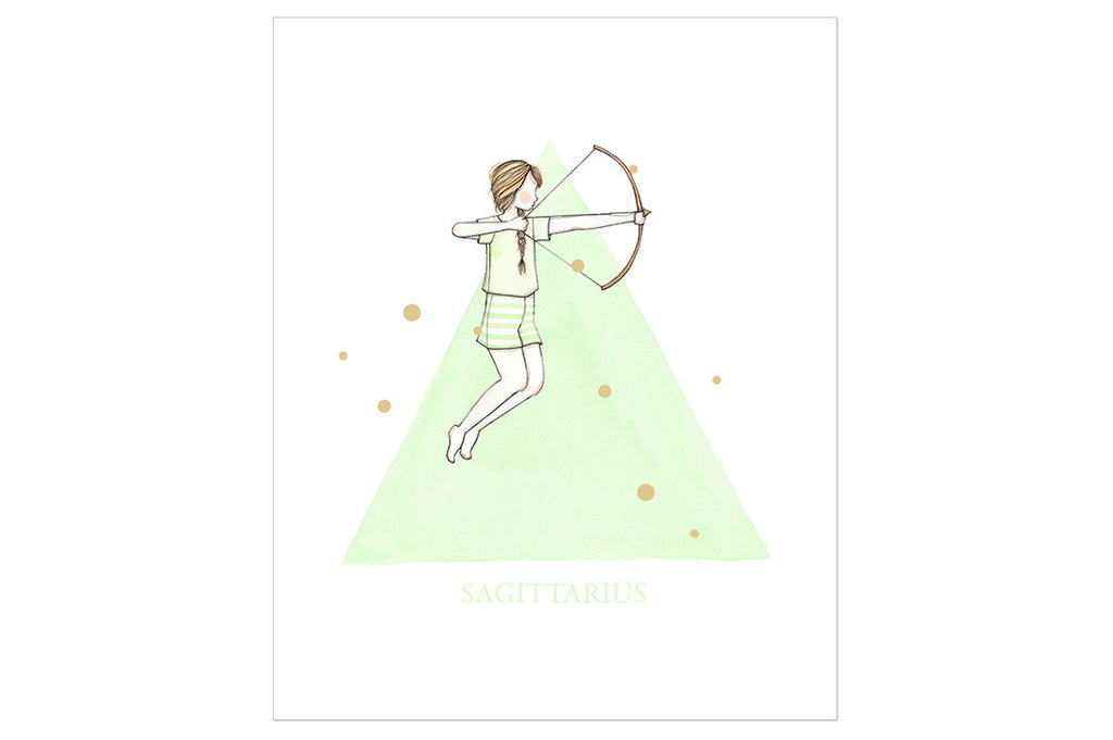 Sagittarius The Archer Print ---