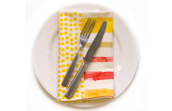 Dots + Stripes Napkin Set (More Colors)