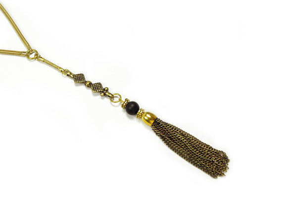 Gold + Onyx Freya Necklace