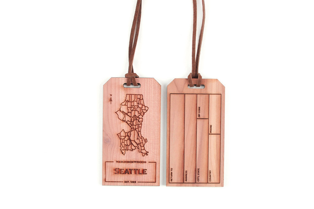 Seattle Luggage Tag ---