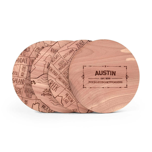 Austin Coasters (Set of 4) ---