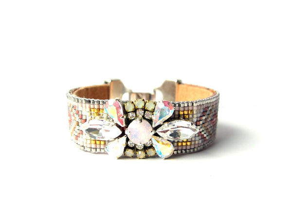 Rose Floral Tribal Cuff