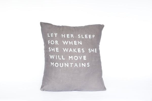 Let Her Sleep Pillow (More Colors)