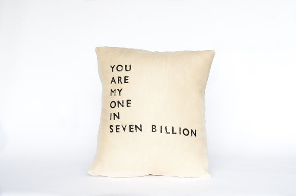 """You Are My One"" Pillow (More Colors)"