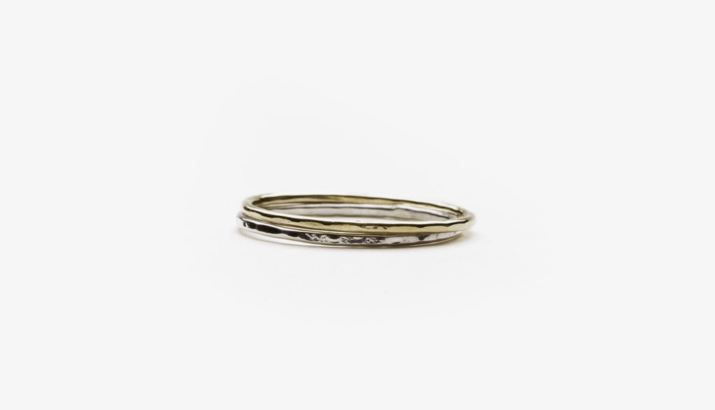 Classic Hammered Stacker Ring (More Options)
