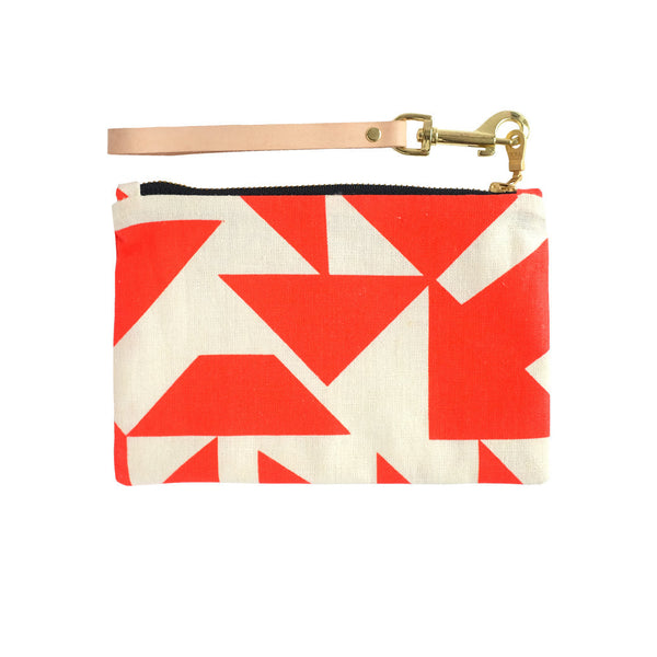 Poppy Red Parallel Clutch