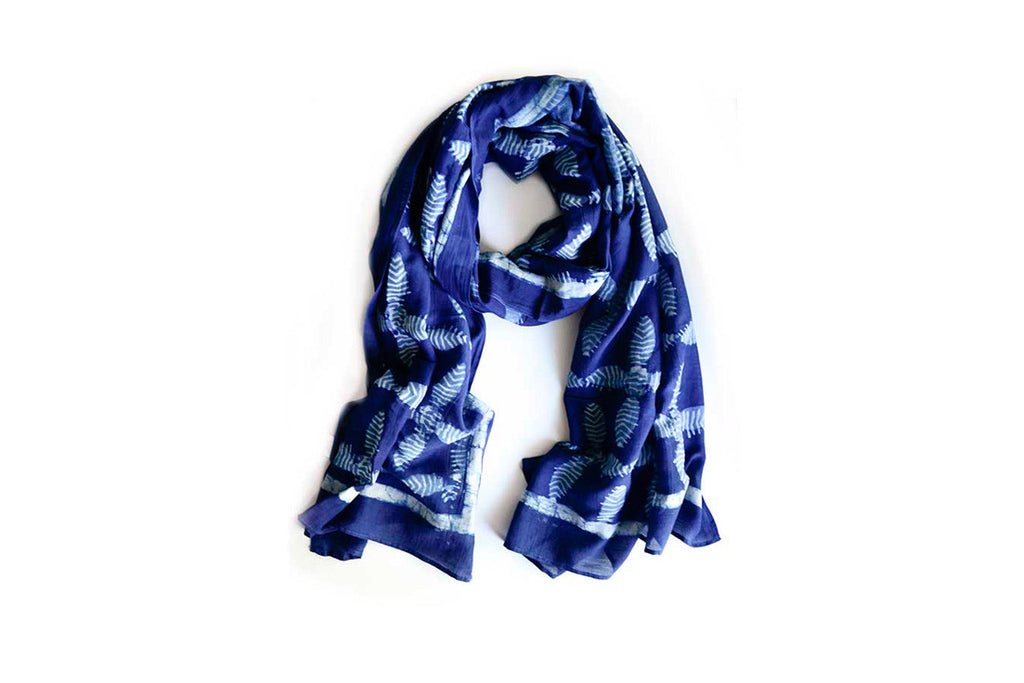 Plus Indigo Scarf