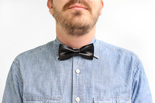 Leather Bow Tie (More Colors) ---