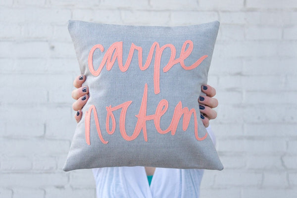 Coral Carpe Noctem Pillow (More Options) ---