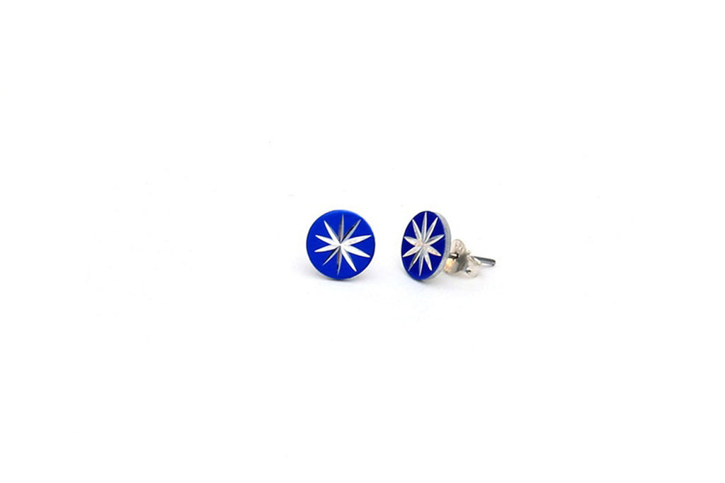 Circle Starburst Stud Earrings (More Colors)