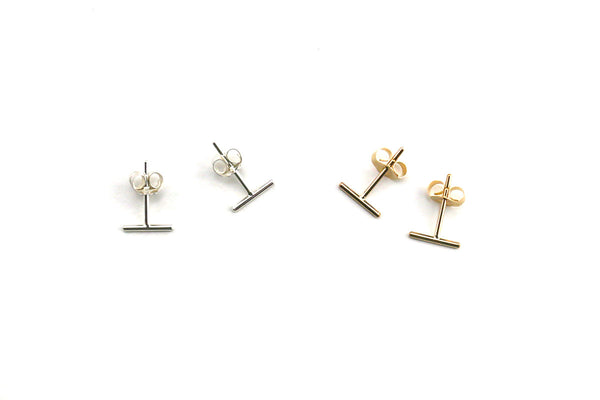 Tiny Line Stud Earrings