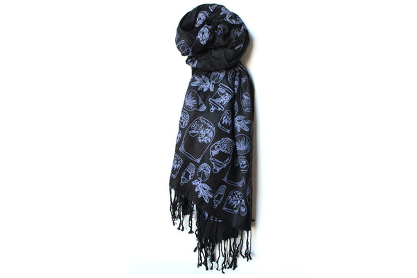 Black Terrariums Scarf ---