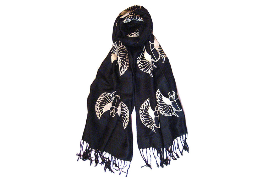 Black Scarabs Scarf