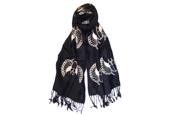 Black Scarabs Scarf ---